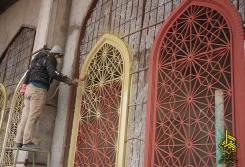 رنگ کاری شبستان امام حسن عسکری علیه السلام