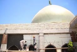 سیمان کاری داخل شبستان ها4