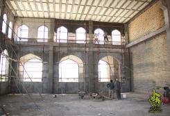 سیمان کاری داخل شبستان ها3